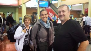 Here we are getting our luggage in Nairobi.  Besides myself, our team is Charlie and Becky Mashinter and Christa Hesselink.