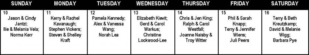 Prayer Calendar Week 8