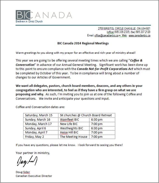 BIC Regional Meetings 2014