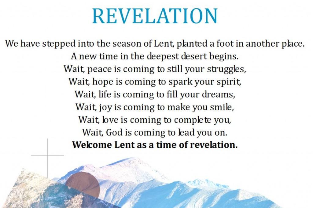 40 days of Lent Revelation