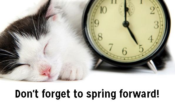 Spring Forward This Weekend