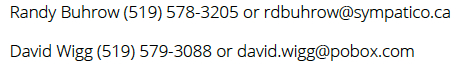 Randy Buhrow Dave Wigg Contact Info