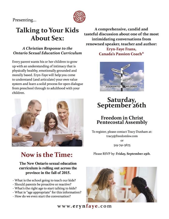Talking to your kids seminar