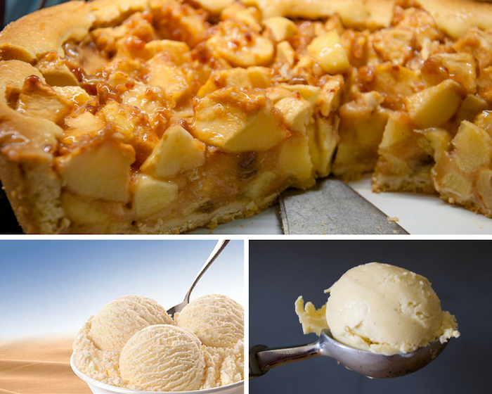 Apple pie and ice cream reduced