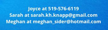 Joyce Sarah Meghan Contact