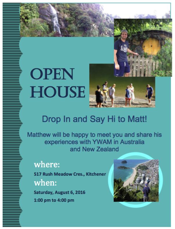 Matt Cober Open House