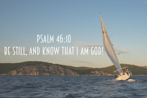 Be Still Sailboat