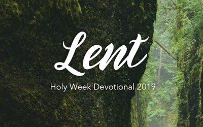 Lent Devotional 2019