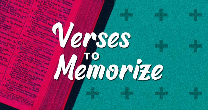 Verses to Memorize #7 – Psalm 23