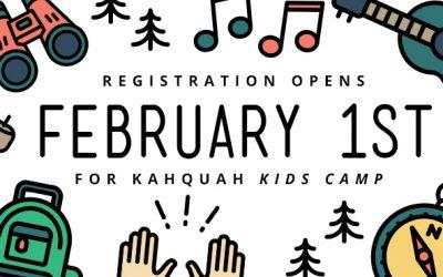 Kahquah Kids Camp Registration