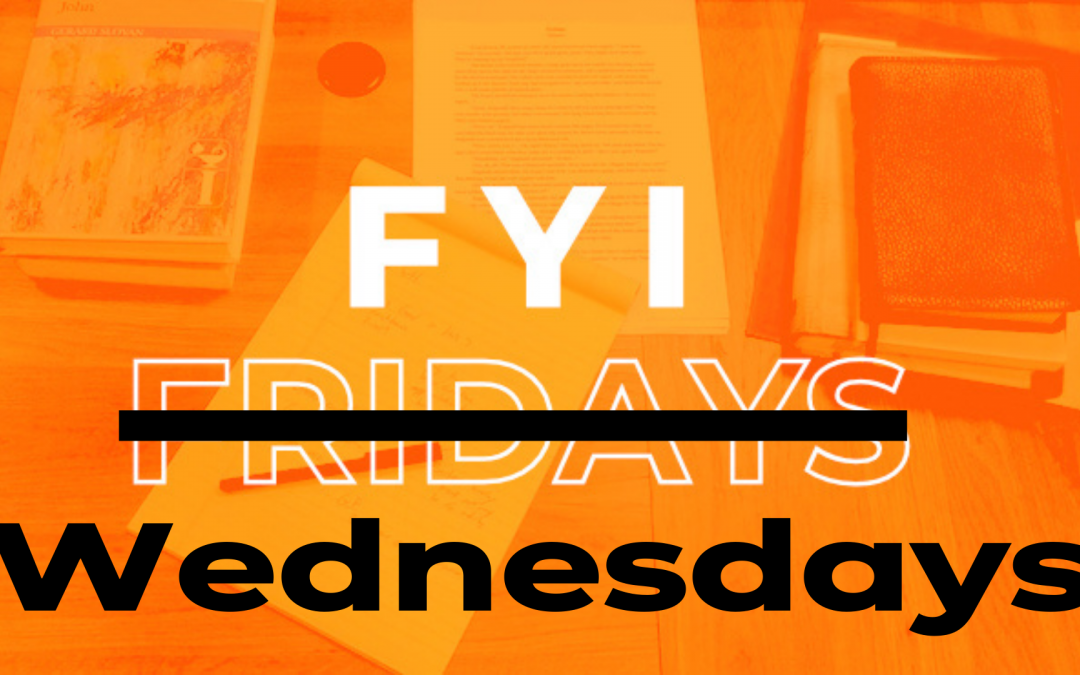 FYI Wednesdays – August 3, 2021
